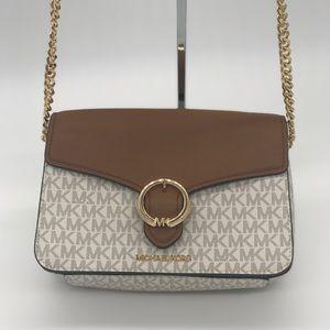 Michael Kors Wanda MD Shoulder Bag Vanilla